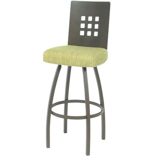 Trica Contemporary Bar Stools Tristan Swivel Bar Stool