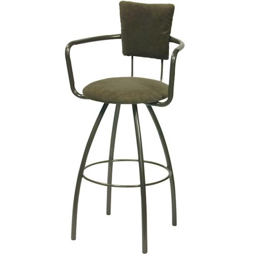 Trica Contemporary Bar Stools Zip Swivel Bar Stool