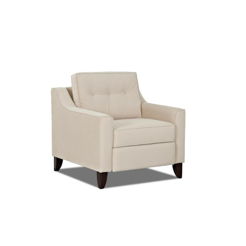 Trisha Yearwood Home Audrina Contemporary Power High Leg Reclining Chair with Tufted Seat Back