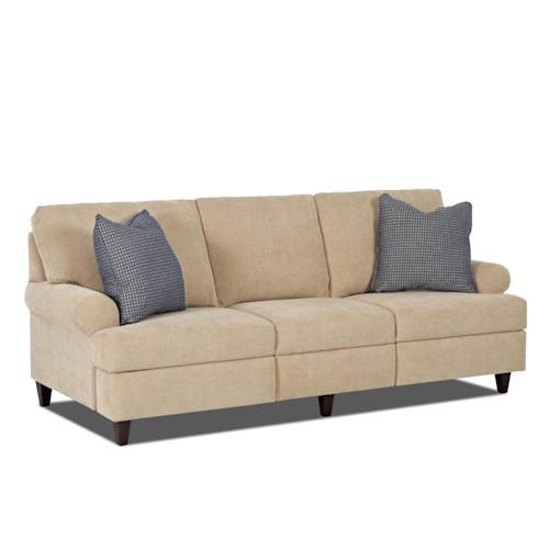 Trisha Yearwood Home Collection by Klaussner Beth  Transitional Power Hybrid Sofa with Rolled Arms