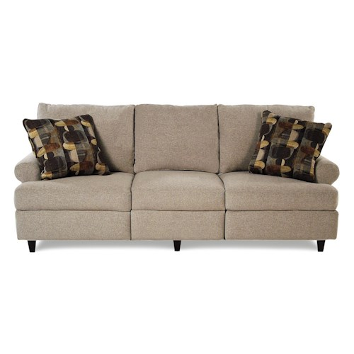 Trisha Yearwood Home Collection by Klaussner Birchwood Transitional Power Hybrid Sofa with Rolled Arms