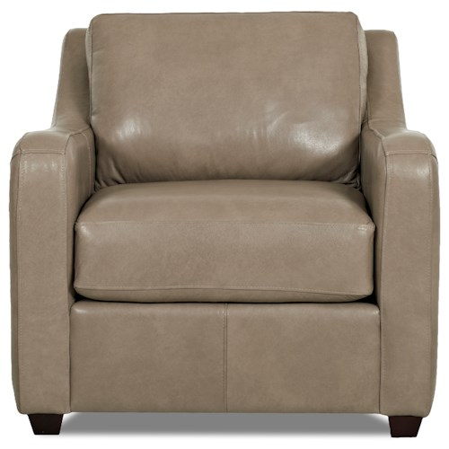 Elliston Place Greer Modern Upholstered Chair with Track Arms