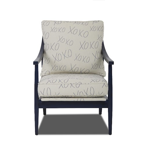 Trisha Yearwood Home Collection by Klaussner Lynn Contemporary Occasional Chair with Loose Cushions