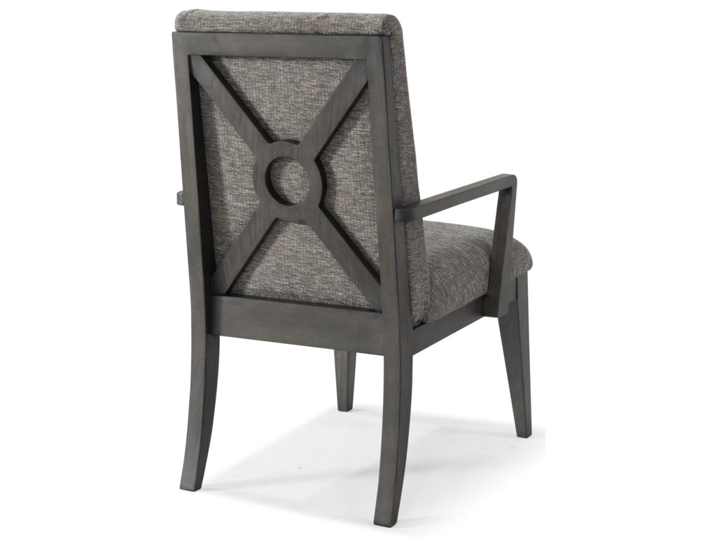 Back Shown on Arm Chair