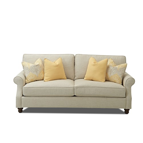 Trisha Yearwood Home Collection by Klaussner Tifton Traditional Sofa with Rolled Arms