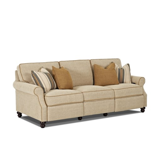 Trisha Yearwood Home Collection by Klaussner Tifton Traditional Power Hybrid Sofa