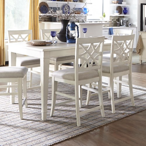 Trisha Yearwood Home Collection by Klaussner Trisha Yearwood Home Southern Kitchen Counter Height Table with 18 Inch Leaf