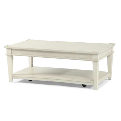 Trisha Yearwood Home Collection by Klaussner Trisha Yearwood Home Cocktail Table with Shelf
