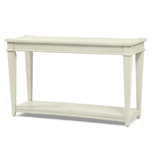 Trisha Yearwood Home Trisha Yearwood Home Sofa Table with Bottom Shelf and Tapered Legs