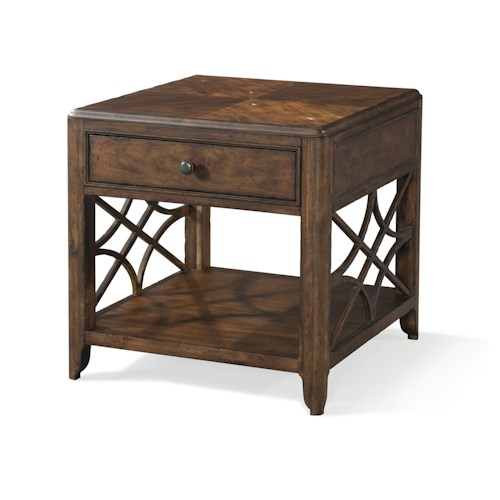 Trisha Yearwood Home Collection by Klaussner Trisha Yearwood Home Georgia Rain One Drawer End Table