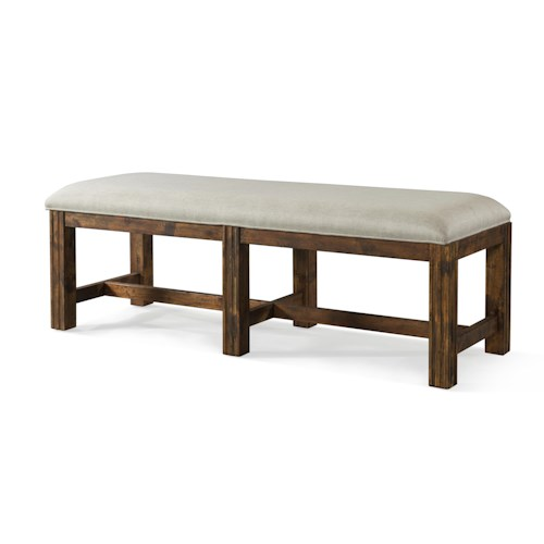 Trisha Yearwood Home Collection by Klaussner Trisha Yearwood Home Carroll Bench with Upholstered Seat