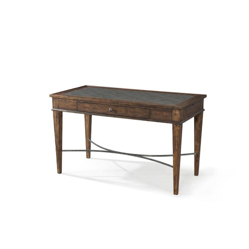 Trisha Yearwood Home Collection by Klaussner Trisha Yearwood Home Xxx's and Ooo's Table Desk with Metal Accents