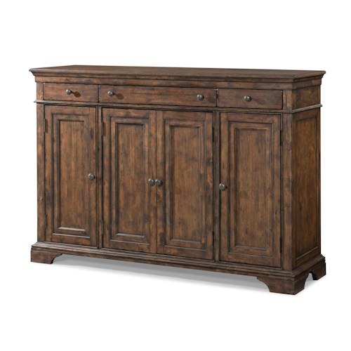 Trisha Yearwood Home Collection by Klaussner Trisha Yearwood Home Family Reunion Buffet with Door and Drawer Storage
