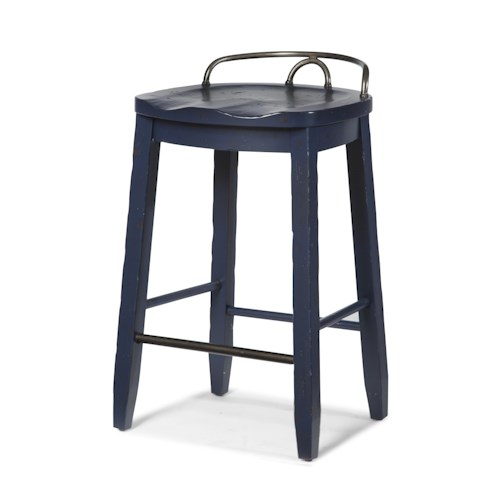 Trisha Yearwood Home Collection by Klaussner Trisha Yearwood Home Cowboy Saddle Stool
