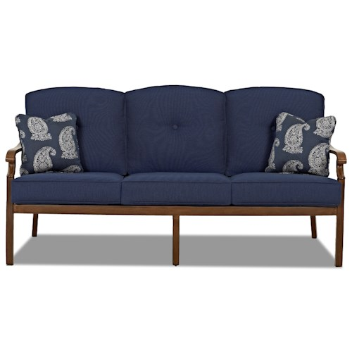 Trisha Yearwood Home Collection by Klaussner Trisha Yearwood Outdoor Outdoor Sofa with Button Tufted Seat Back