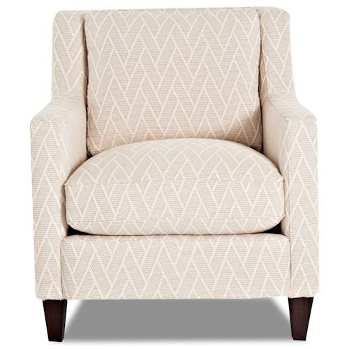 Trisha Yearwood Home Collection by Klaussner Valley Forge Contemporary Accent Chair with Angled Arms