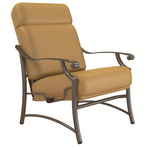 Tropitone Montreaux Ur Comfort Outdoor Chair with Adjustable Backs and Rolled Arms