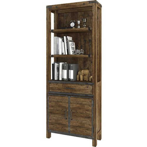 Turnkey Products Artisan Revival Bookcase with 3 Adjustable Shelves