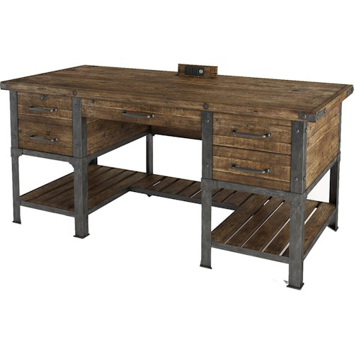 Turnkey Products Artisan Revival Executive Desk with Power Well