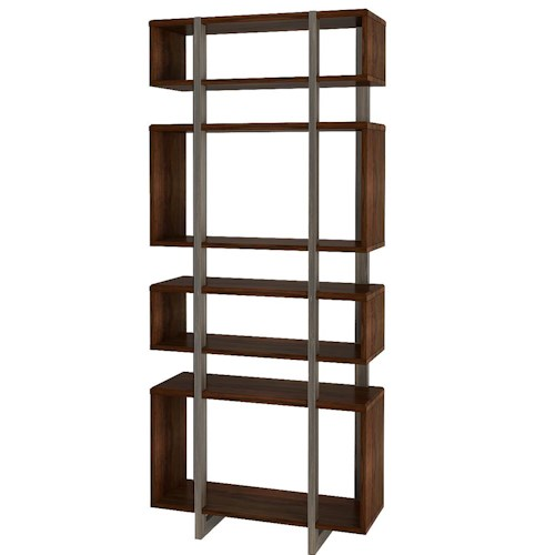 Turnkey Products Austere Antiques Etagere Bookcase with 4 Open Compartments