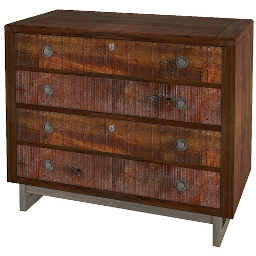 Turnkey Products Austere Antiques Lateral File with 2 Drawers