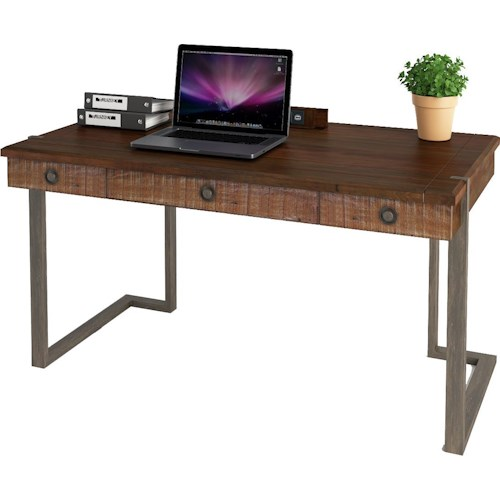 Turnkey Products Austere Antiques Writing Desk with Power Well
