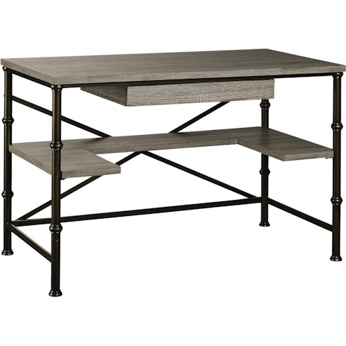 Turnkey Products Durham Rectangle Writing Desk with Shelf