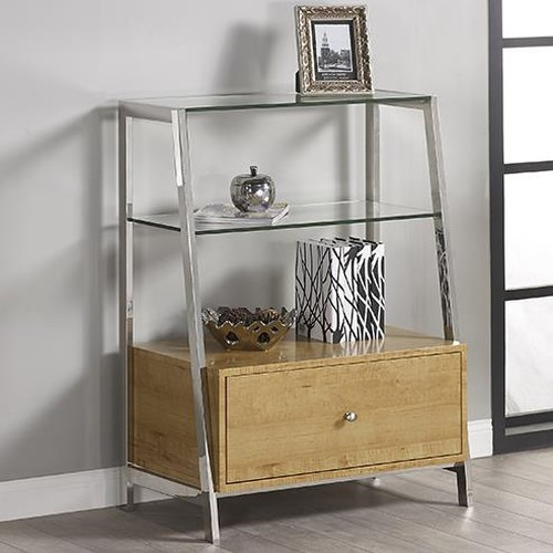 Turnkey Products Geo Bookcase With Drawer