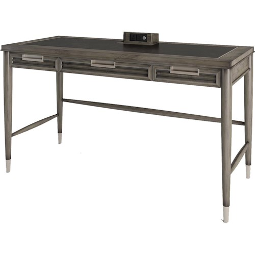 Turnkey Products Modern Nostalgia Writing Desk with 4 Outlets