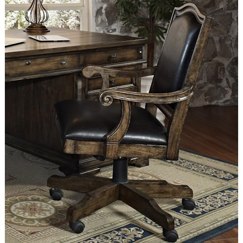 Turnkey Products San Andorra Leather Executive Office Chair