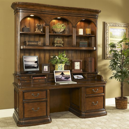 Turnkey Products Winsome Smart Top Credenza and Hutch with Printer Storage