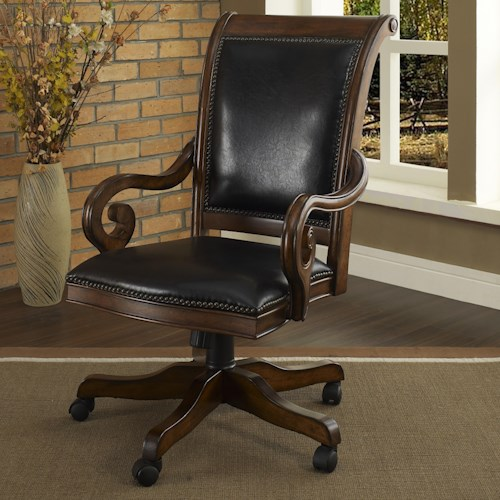 Turnkey Products Winsome Executive Leather Arm Chair