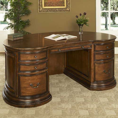Turnkey Products Winsome Executive Desk with Power Well Storage
