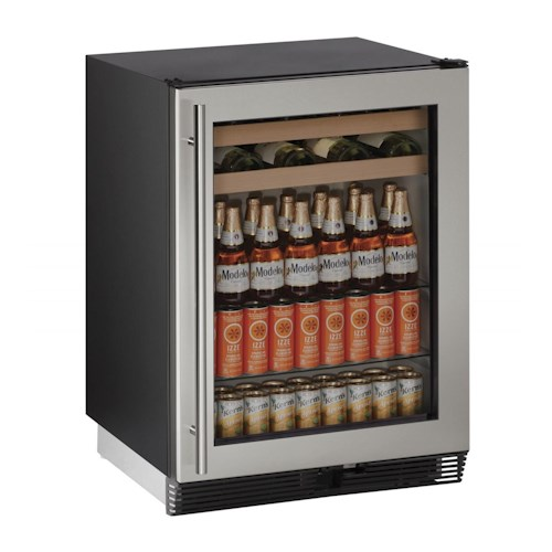 "U-Line Beverage Centers 5.4 cu ft. 1000 Series 24"" Beverage Center"
