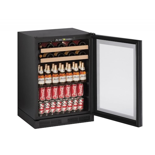 "U-Line Beverage Centers 5.4 cu ft. 1000 Series 24"" Beverage Center with Integrated Frame"