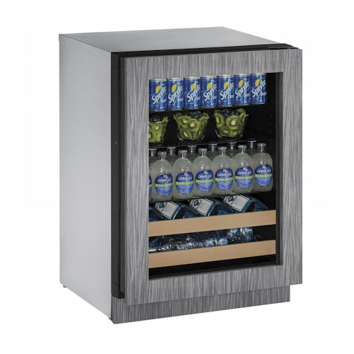 "U-Line Beverage Centers ENERGY STAR® 4.9 cu ft. 2000 Series 24"" Beverage Center with Integrated Frame"