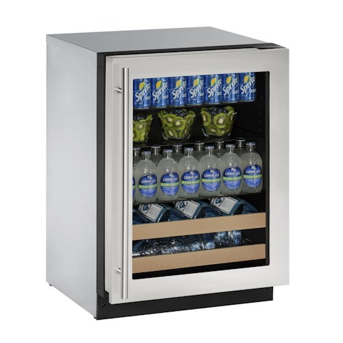 """U-Line Beverage Centers ENERGY STAR® 4.9 cu ft. 2000 Series 24"""" Beverage Center with Convection Cooling System"""