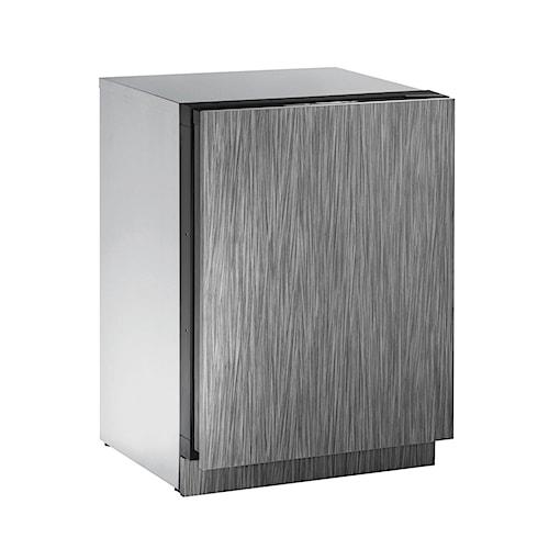 "U-Line Beverage Centers ENERGY STAR® 4.9 cu ft. 3000 Series 24"" Beverage Center with Solid Integrated Door"