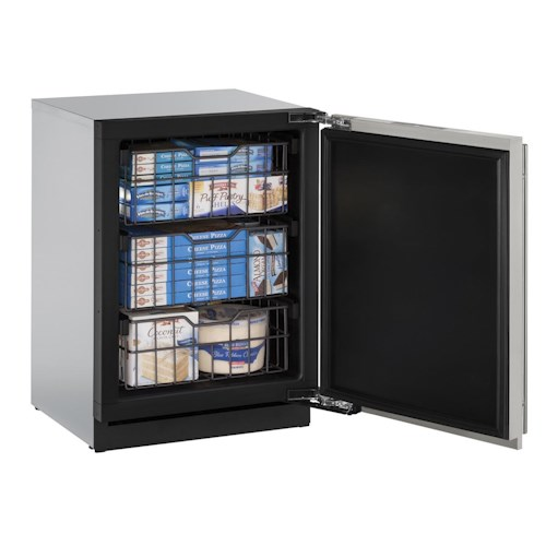 U-Line Freezers 4.5 cu. ft. Left-Hand Hinged Built-In Freezer with 3 Full-Extension Vinyl-Coated Wire Baskets and Left-Handed Hinge