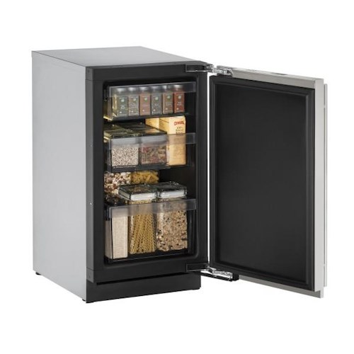 """U-Line Refrigerators ENERGY STAR® 18"""" Solid Door Refrigerator (Right Door Swing) with U-Select® Control Convection Cooling System"""