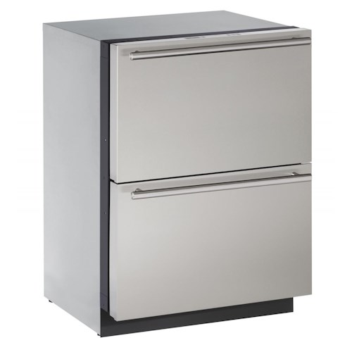 U-Line Refrigerators 4.5 cu. ft. Built-in Two Drawer Refrigerator with Independently Controlled Temperature Zones