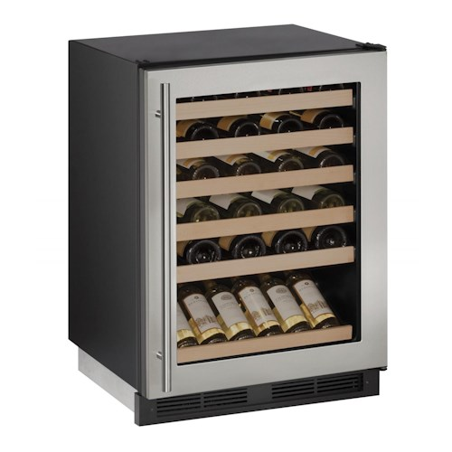 "U-Line Wine Captains - 2014 24"" 1000 Series Wine Cooler with Digital Cooling System and Key Lock"