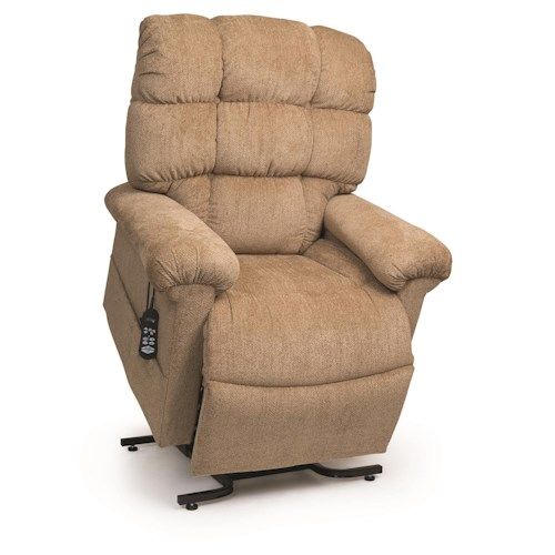 Morris Home Furnishings StellarComfort Medium Large Lift Recliner with Tufted Back