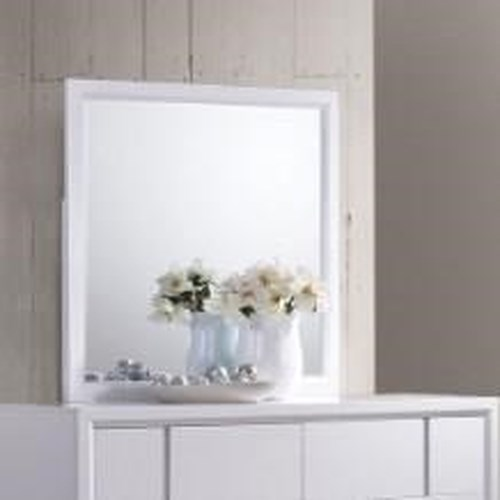 United Furniture Industries 1011 Mirror with Wood Frame