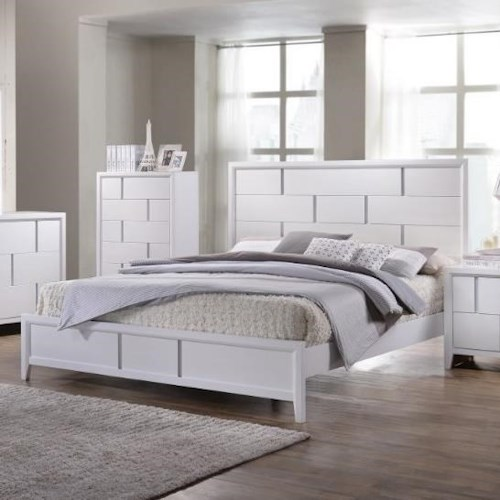 United Furniture Industries 1011 Queen Panel Bed