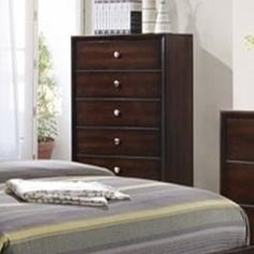 Simmons Upholstery 1017 5 Drawer Chest Royal Furniture