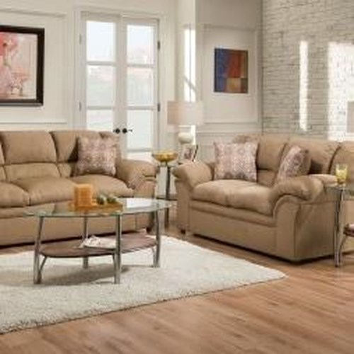 United Furniture Industries 1720 United Casual Loveseat with Pillow Arms