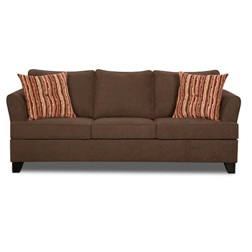 Simmons upholstery 2049 transitional sleeper sofa royal for B q living room furniture