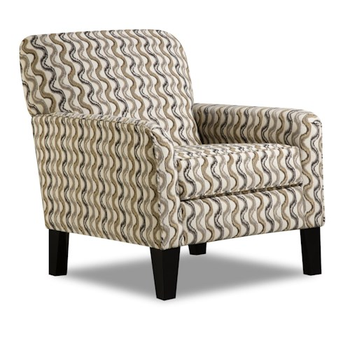 United Furniture Industries 2153 Transitional Accent Chair with Tight Seat Back