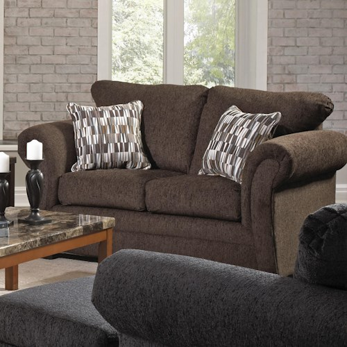 United Furniture Industries 2256 Transitional Loveseat